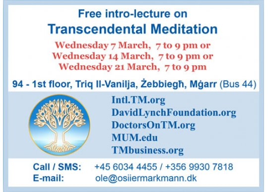 Introductory lecture on Transcendental Meditation at