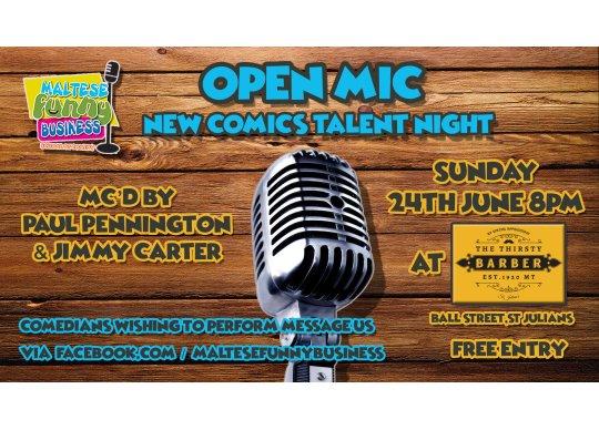 Open Mic - New Comics Talent Night at Malta What's On Malta