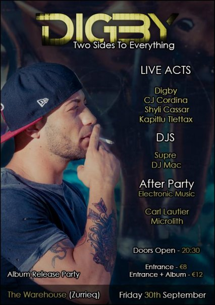 Digby 'Two Sides To Everything' Album Launch in Malta, Music Malta, 30.09.2016 - 30.09.2016