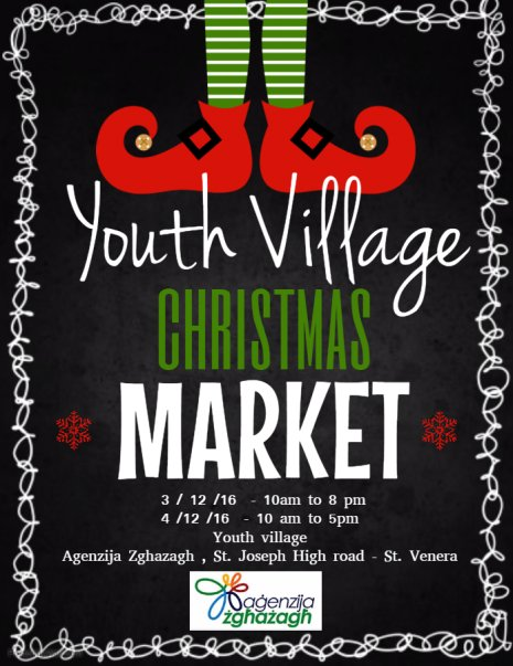 Youth Village Christmas Market  in Malta, Special Events Malta,  3.12.2016 -  4.12.2016