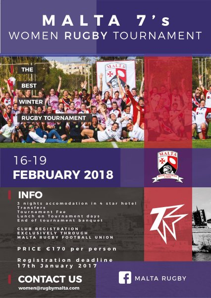 Malta 7s Women's International Tournament in Malta, Sports Malta, 16.02.2018 - 19.02.2018
