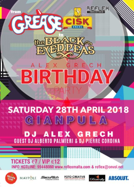 From Grease to Black Eyed Peas Party in Malta, Clubbing Malta, 28.04.2018 - 28.04.2018