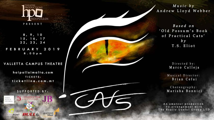 CATS - the musical in Malta, Theatre Malta,  8.02.2019 - 24.02.2019