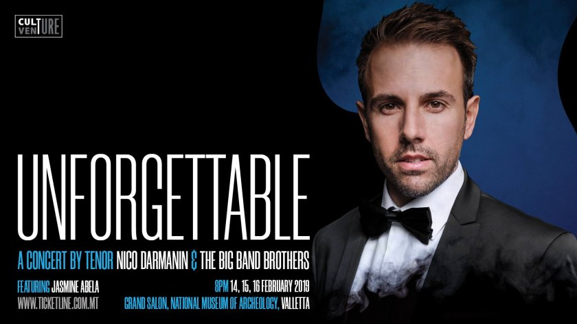 Unforgettable: a concert by Tenor Nico Darmanin in Malta, Music Malta, 14.02.2019 - 16.02.2019