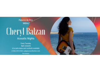 Acoustic Nights by Cheryl Balzan in Malta, What's On Malta