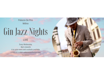 Gin Jazz Nights  in Malta, What's On Malta