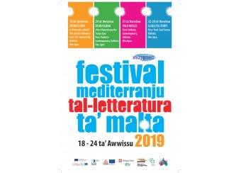 Malta Mediterranean Literature Festival 2019 in Malta, What's On Malta