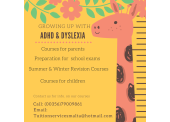 Growing up with ADHD & Dyslexia- Course for parents and students in Malta, What's On Malta