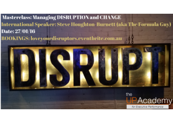 Masterclass: Managing Disruption & Change - Love your Disruptors!  in Malta, What's On Malta