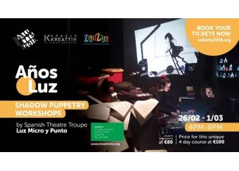 Anos Luz - Light Years Shadow Puppet Theatre 4-day Day Workshop in Malta, What's On Malta