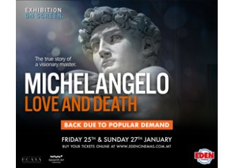 Michelangelo Love and Death in Malta, What's On Malta